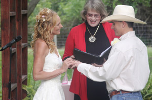 Wedding officiant Becky Perrin